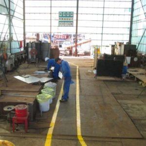 ⑥艤装配管工場